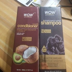 Wow shampoo and conditioner sit used maybe 3 less